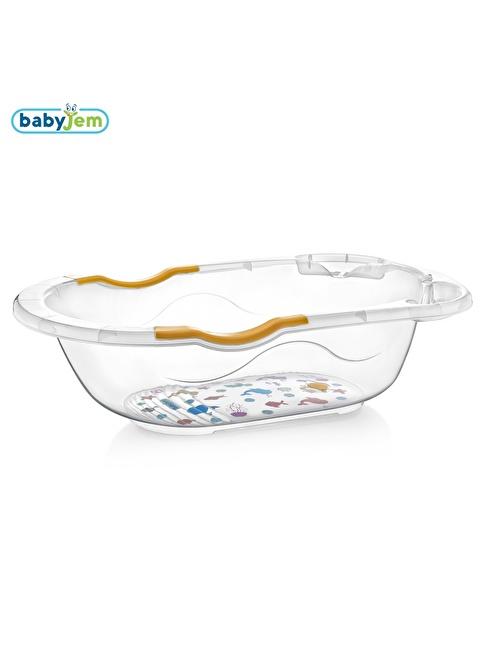 Baby Jem Babyjem Giderli Desenli Şeffaf Banyo Küveti  Beyaz
